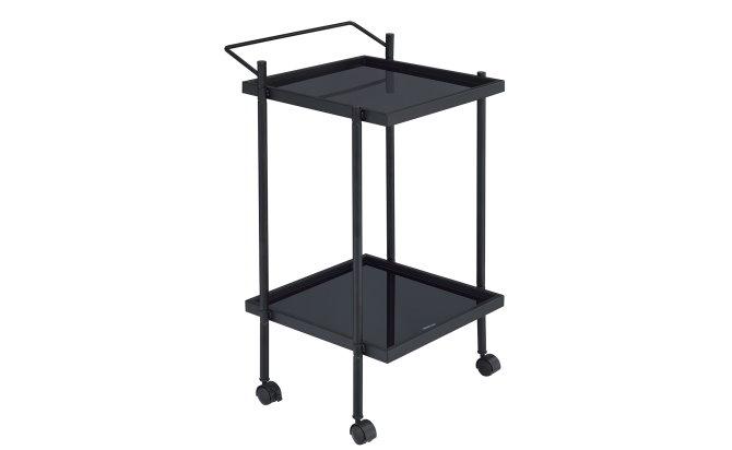 GO 2530B Glass Kitchen Cart