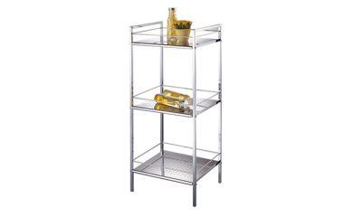 3 Tier Storage Shelf, Metal Bathroom Shelf, Bath Storage Stand